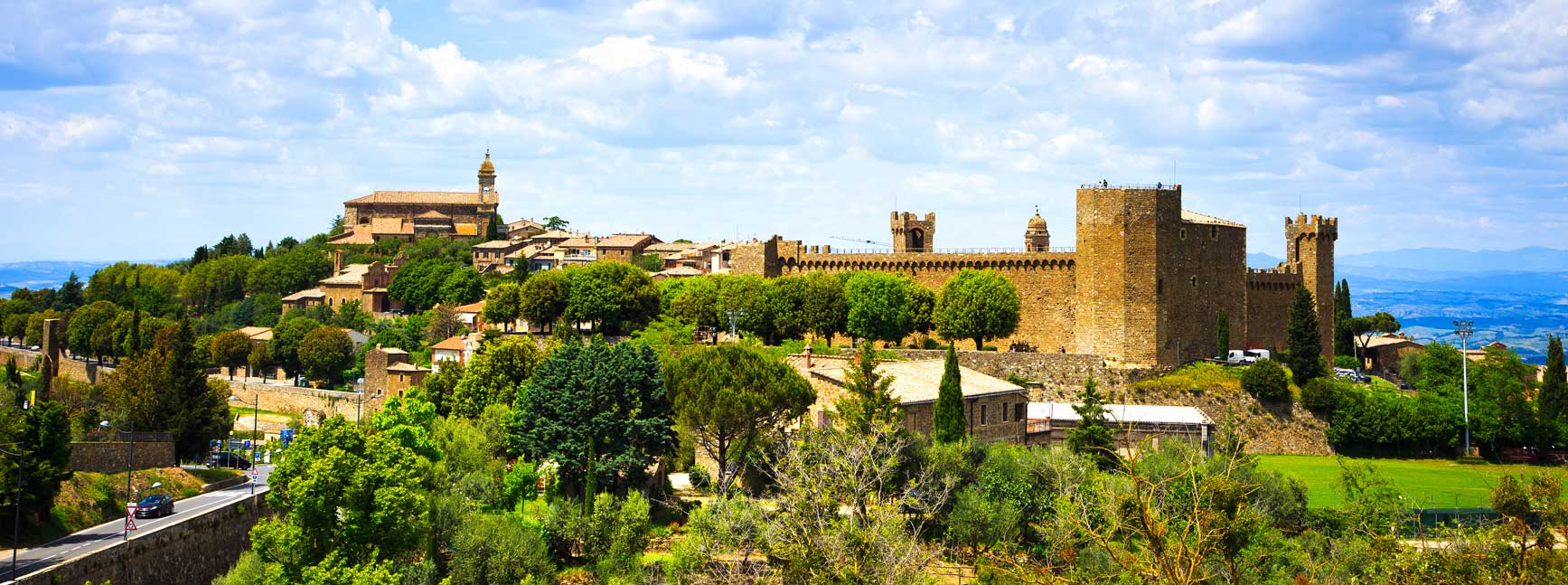 vista sul castello di Montalcini